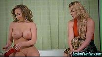 (Phoenix Marie & Richelle Ryan) Sexy Lesbian Get Dildo Sex  Punished  By Mean Lez clip-26