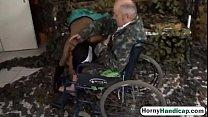 Crippled old guy fucks sexy young brunette nurseock-HI