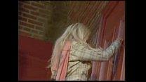 Blonde striptease at wrong door