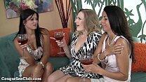 Three MILFs Sharing A Fat Cock
