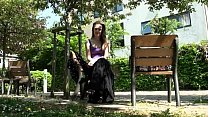 Teen flashing babe Lauras outdoor nudity and ma...