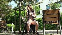 Teen flashing babe Lauras outdoor nudity and masturbation