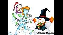 Famous cartoons Christmas orgy