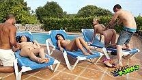 Orgía en la piscina con Salma de Nora