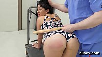 Nasty cutie was brought in butthole asylum for harsh therapy