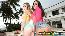 Big Ass MILF Pornstars Luna Star and Aurielee Summers Fucking Threesome