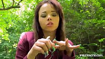 Tight Teen Anita Bellini has both holes plugged...