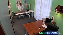 Fake Hospital G Spot Massage Gets Hot Brunette Patient Wet