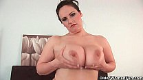 Soccer mom with mature big tits gets fucked