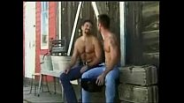 Muscular Stud and Hairy Bear Suck and makeout