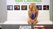 Real teen enjoys roughsex at casting