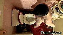 Twink movie With pricks spurting out pee into the bowl, one of our
