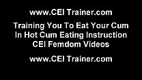 Eat a hot load of cum like a good little sissy