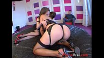 Arella and Indra lick and touch each other befo...