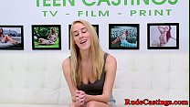 Rough casting for amateur teen babe