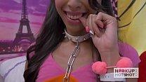 Tiny Latina Gets Smashed on Hookup Hotshot