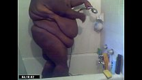 SSBBW black amateur MsBinthere shower