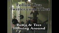 Trez & Benji Latin Guys BiLatinMen Horsing around Big Uncut Cokcs