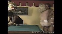 Big tits black Ebony Ayes and Peter North in interracial snooker table 3some
