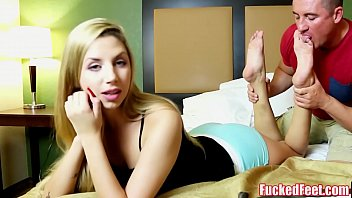 Teen ryan riesling does first footjob for fucke...