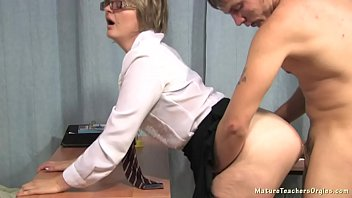 Russian Mature Teacher And Her Student