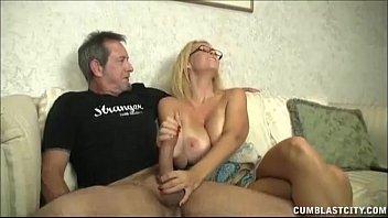 Milf jacking big cock