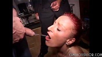 Busty blonde strip then sex videos