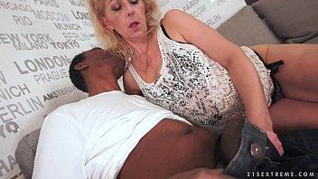 Lusty grandma loves black cock