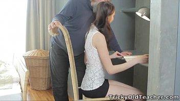 Tricky old teacher - alina loves to..