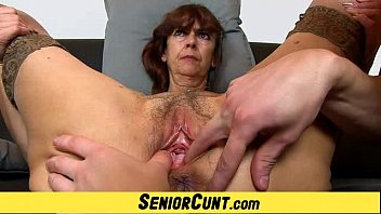 Huge cumshot vaginal granny