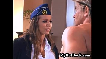 Presley maddox is a brunette airline stewardess w
