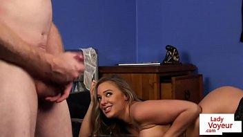 Busty british voyeur instructs with dirtytalk 8
