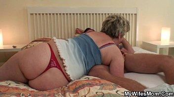 Free grandma threesome video