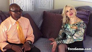 Teengonzo busty blonde sarah vandella takes fat...