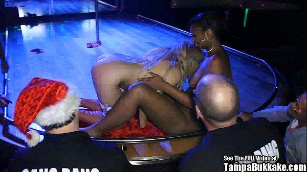 Jasmine Playtime XXXMAS Stripper Gangbang Bukkake