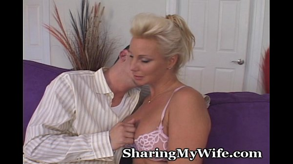 Older blonde goes nuts for young big cock 6
