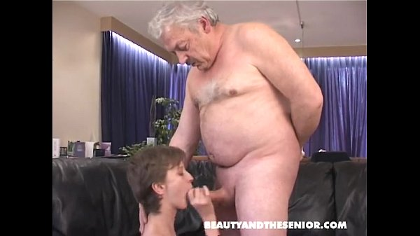 Old man sucking young cock
