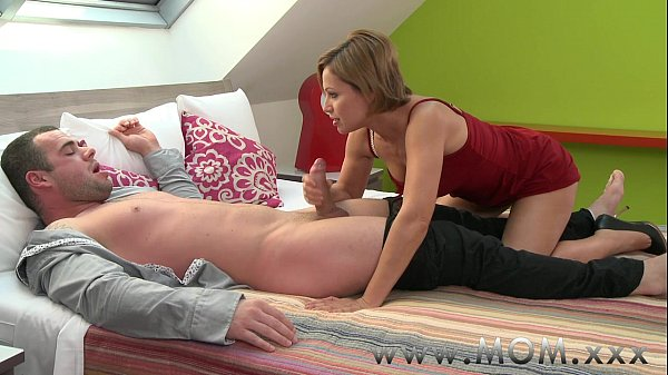 Mom Brunette Milf Gives Her Man A Reason To Stay Awake -4156