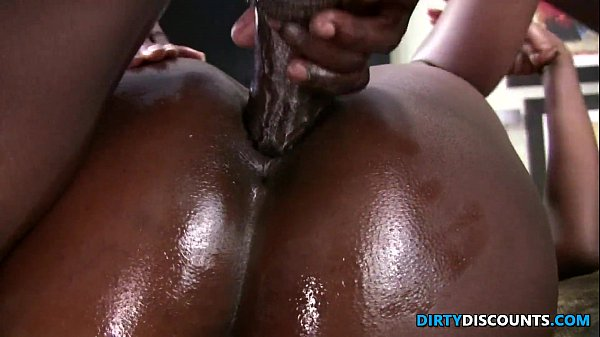 Busty bigbooty ebony twerks on hard cock 2