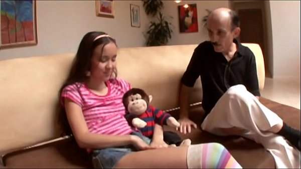 Grandpa fucks 19 year old teen pussy and cums in her mouth 3