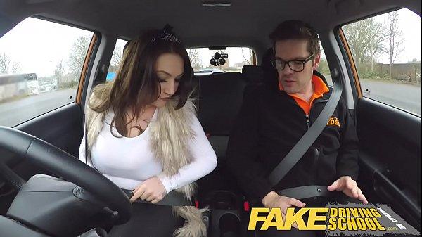 Fake driving school redhead ella hughes eats instructors cum - 3 part 7