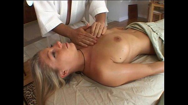 blonde gets special massage