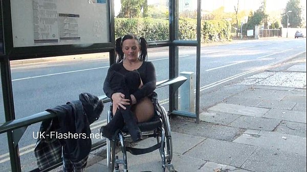 Paraprincess outdoor exhibitionism and flashing wheelchair bound babe show 2