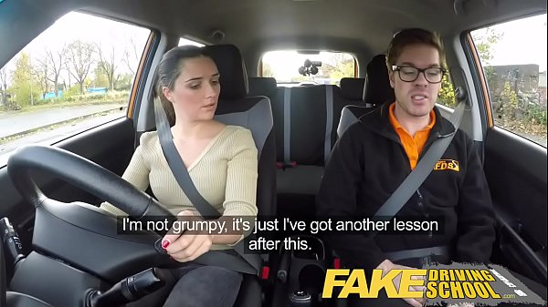 Fake driving school lesson ends in squirting orgasm creampie 4