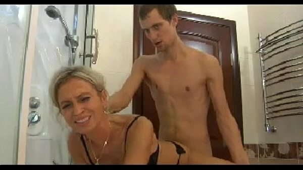 Hot Mom N150 Blonde Russian Mature Milf And A Young Man -5981