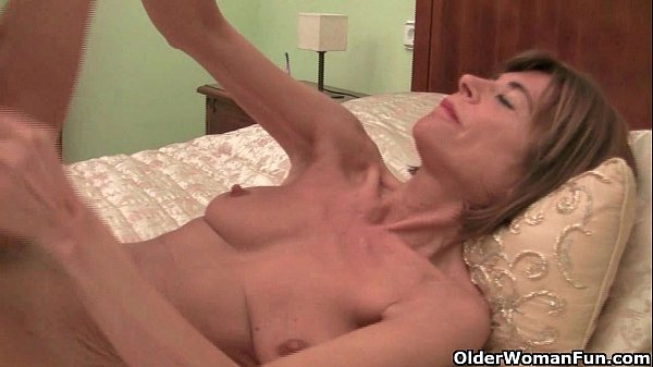 Skinny Grannies Bossy Rider And Maria Stripping Off -7195