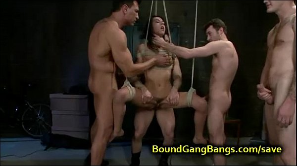 Tied up babe fucked porn will