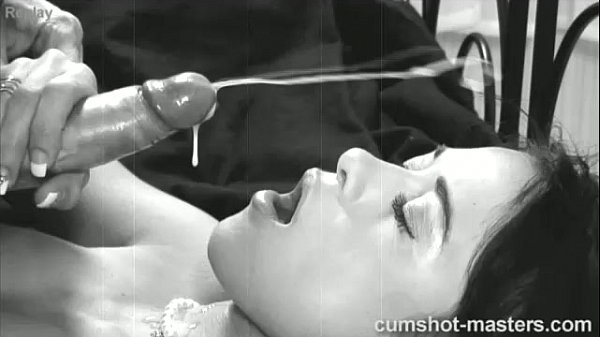 Black and white cumshot