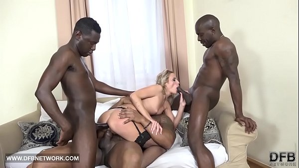 Moneyshot sad double interracial penetration and facials are