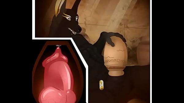 Garyu anubis furry yiff masturbation animation